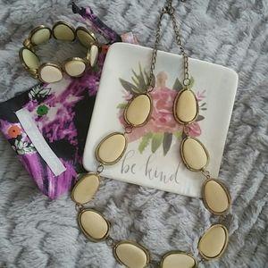 Noonday Monoca bracelet and necklace